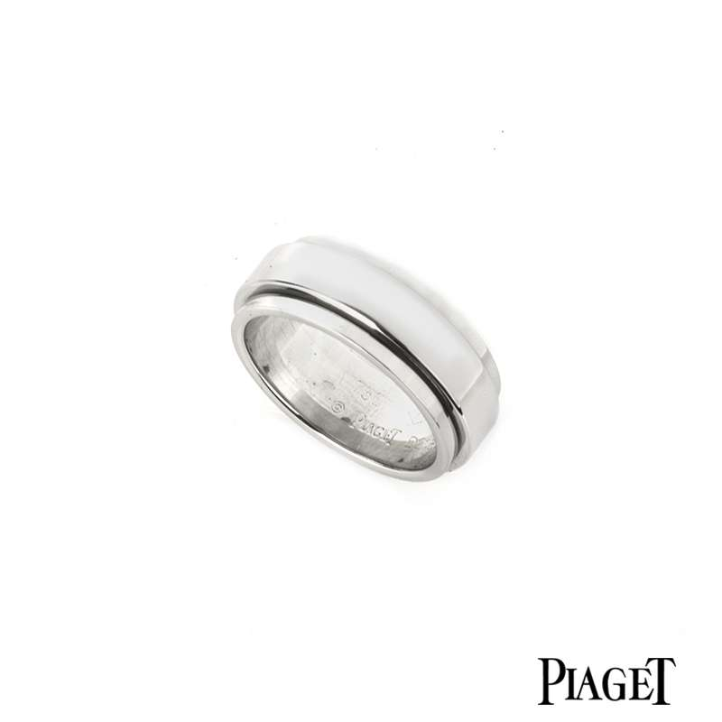 Piaget 18k White Gold Possession Ring B&P G34PK953